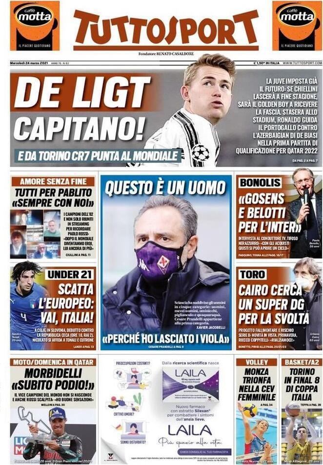 Tuttosport, prima pagina